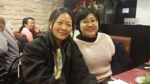 sister Xi Hui (left)
